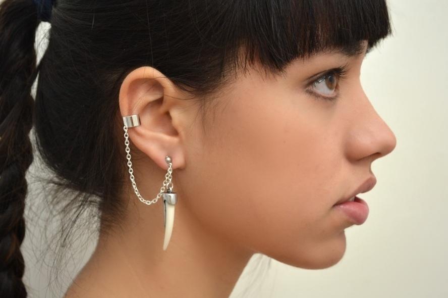 Ear cuff, acessório trazido da década de 80.