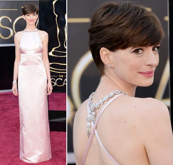 Anne Hathaway Oscar Award: Os Melhores (e Os Piores) Looks Do Oscar 2013