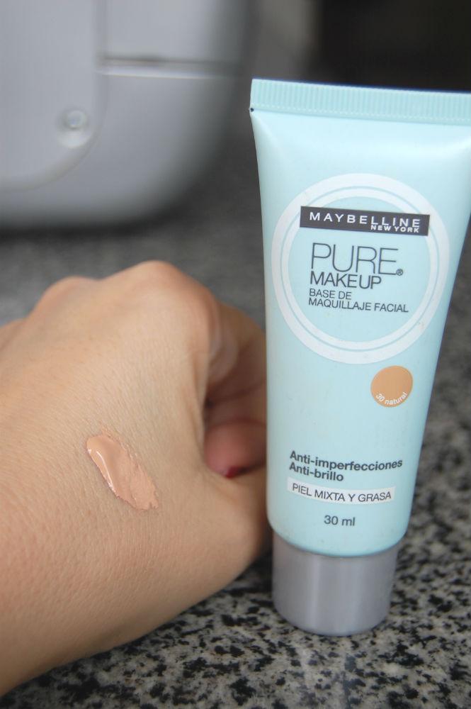 resenha base pure makeup da maybelline