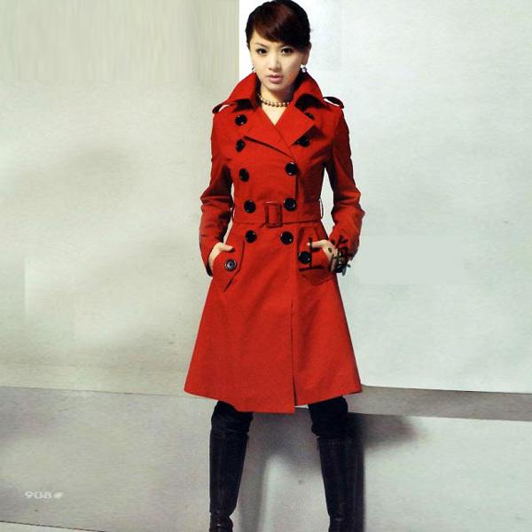 E para finalizar, o mais mais de todos: trench coat vermelho.