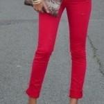 Para se inspirar: calça vermelha.