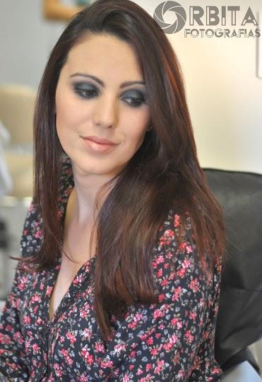 Maquiagem da aluna Núbia.