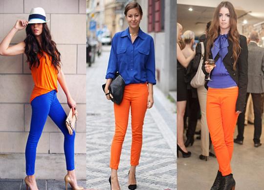 as-cores-collor-block-laranja-tangerina-e-azul-klein