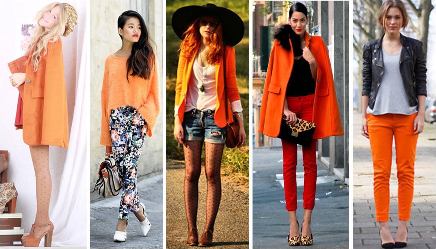 Resultado de imagem para looks com cor laranja