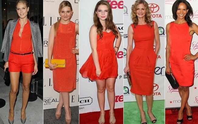 as cores laranja