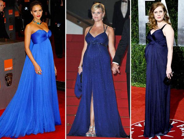 Moda gestante III: vestidos de festas para grávidas.
