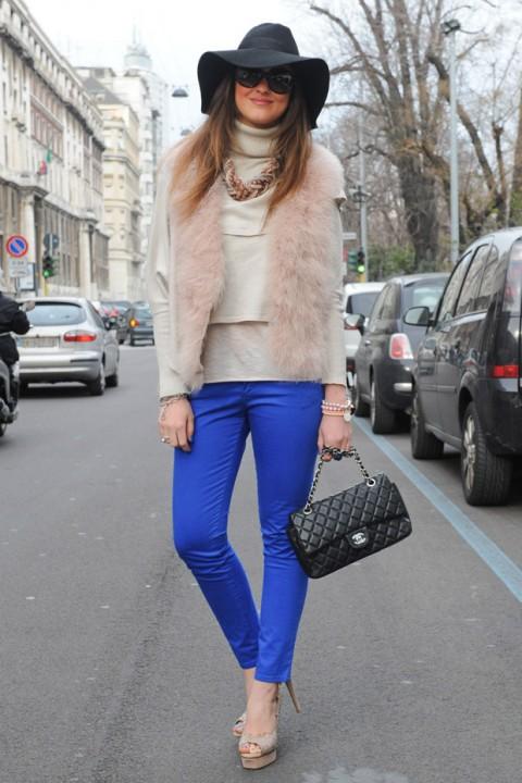 as cores azul