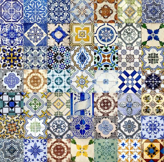 Tend ncia estampa de porcelana chinesa e azulejo portugu s for Azulejos personalizados