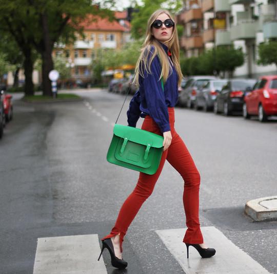 as cores verde e vermelho