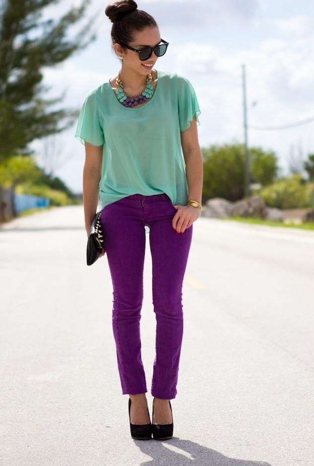 as cores violeta
