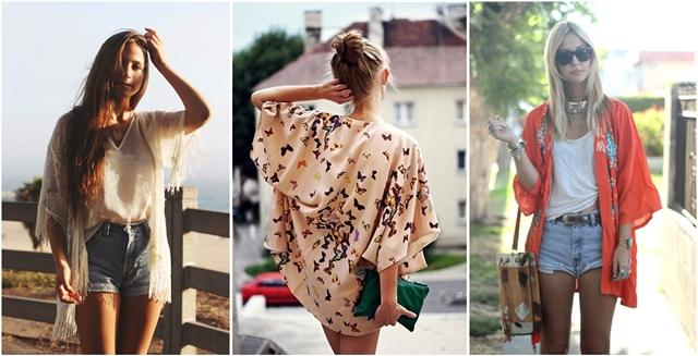 como usar quimono com shorts