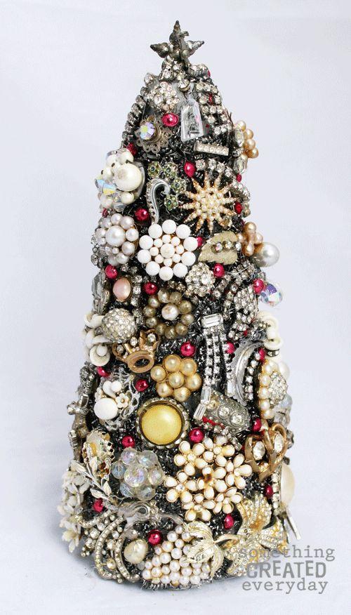 decoração de natal árvore de natal de broches