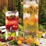 Para se hidratar (inspirar): água aromatizada.