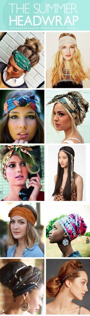 lenços acessórios de cabeça verão 2014