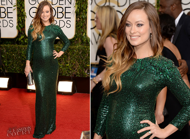 look monocromático olivia-wilde-in-gucci-premiere-2014-golden-globes