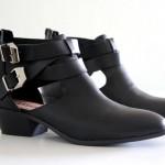 Sapatos femininos: cut out boots, tendência inverno 2014.