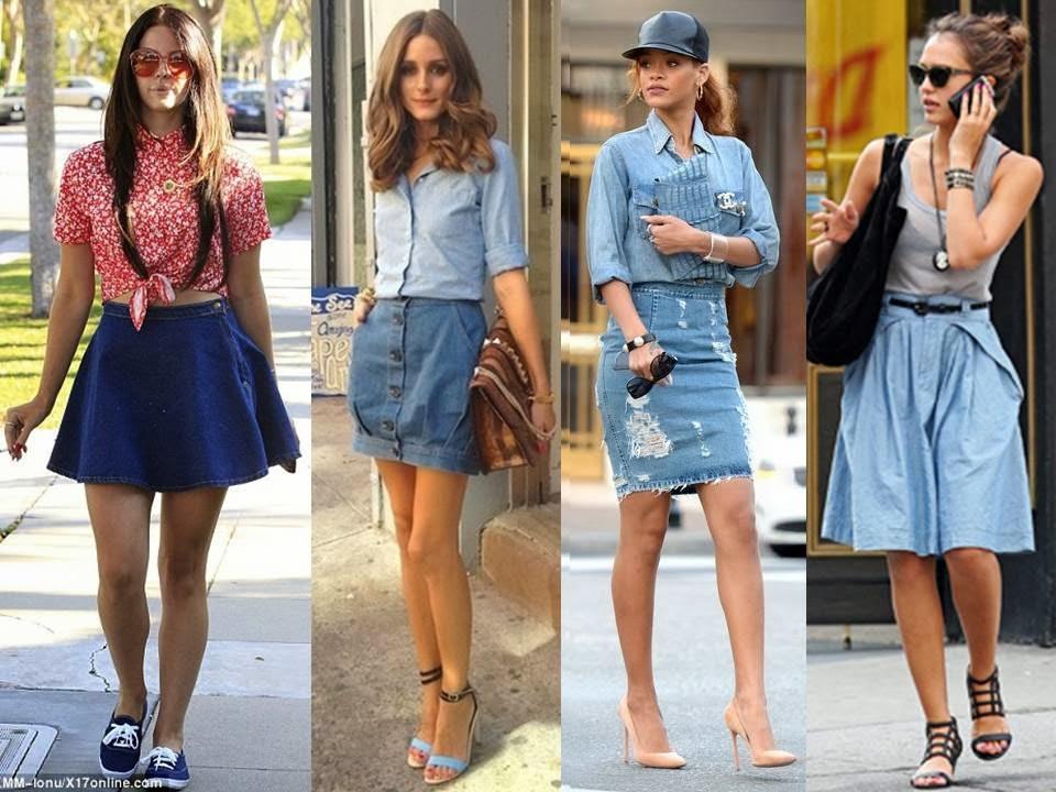 tendência verão 14 _15 saia jeans
