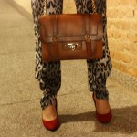 Look do dia: animal print mais jaqueta biker.