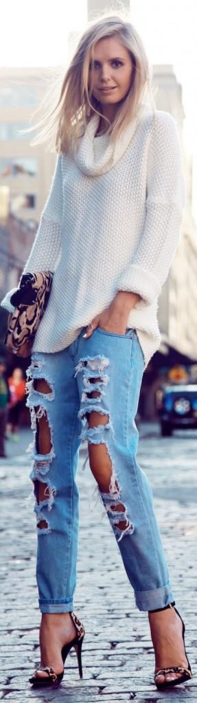 jeans-rasgados-mais-tricô 4
