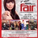 Sorteio: convites para Professional Fair, feira da beleza em BH.