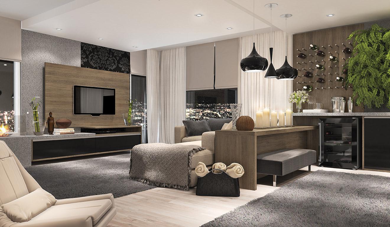 Sala De Estar Junto Con Sala De Tv ~  são materiais que estão em alta para decoração de sala de jantar