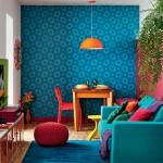 Decoração de ambientes com cores fortes!