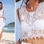 Look todo branco para passar o reveillon na praia!