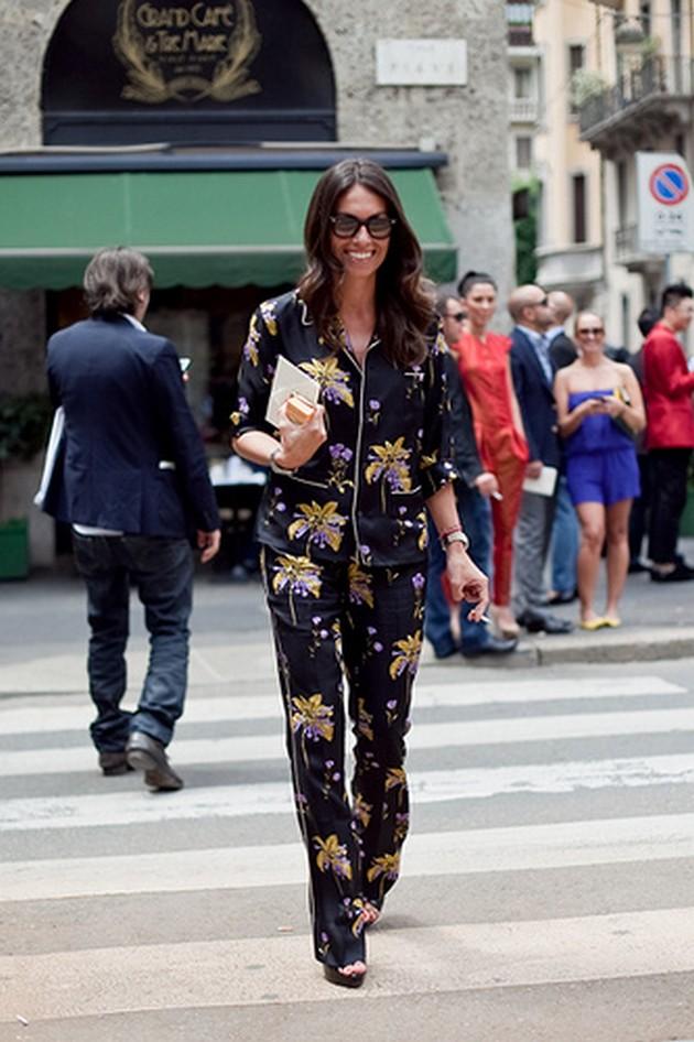 como-usar-pijama-na-moda-de-rua-street-style 3