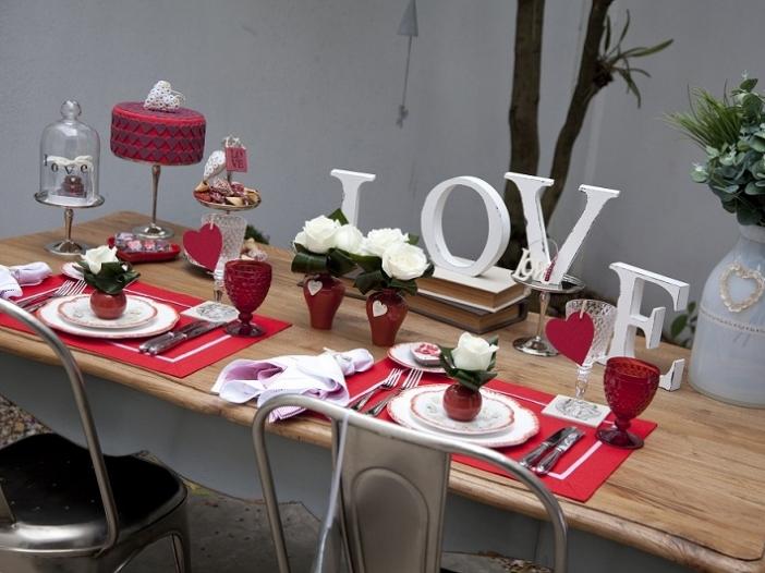 Decoração de mesa para o dia dos namorados!