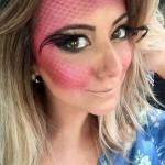 Mais uma maquiagem de carnaval sereia!