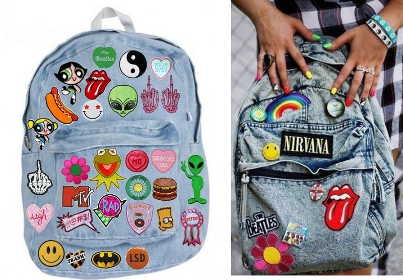 jaqueta_jeans_bordada_mochila_customizada_com_patches_e_bottons_street_style 3