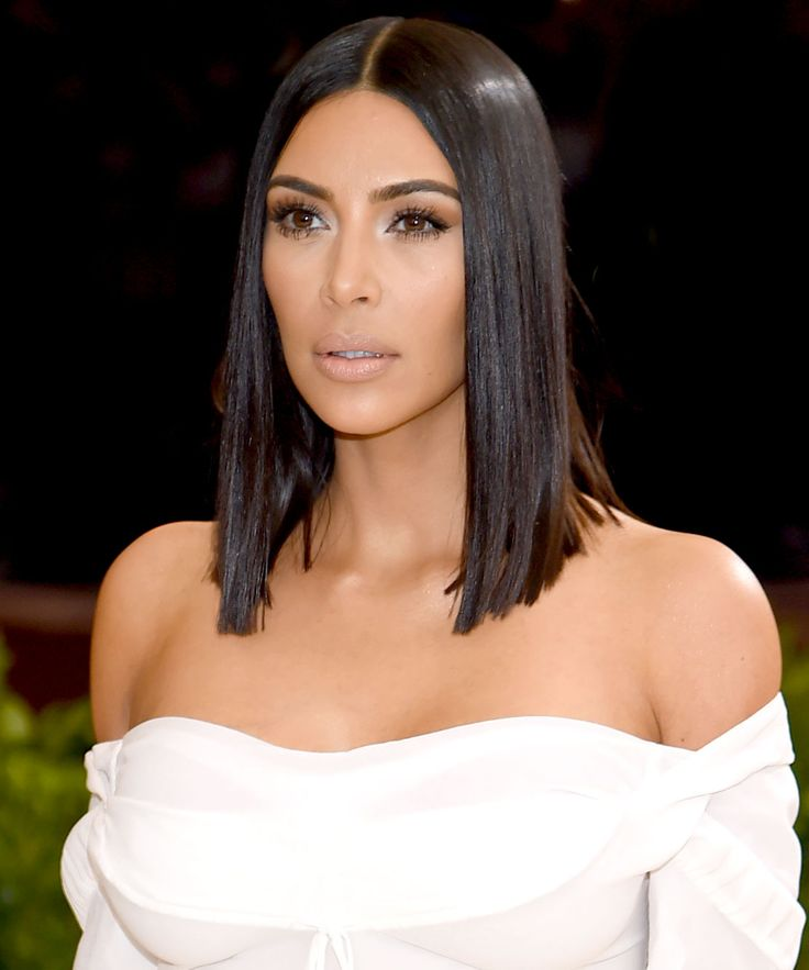 how to get kim kardashian middle part hairstyle
