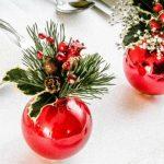 Decoração de mesa de natal usando vermelho!