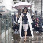 Rain umbrella street style!