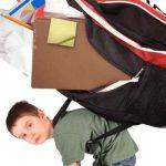 Volta às aulas e o peso das mochilas!