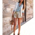 Para se inspirar: shorts de paetês.