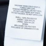 Decifrando os símbolos das etiquetas de roupas.