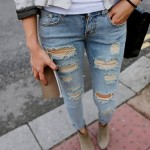 Para se inspirar: jeans rasgado.