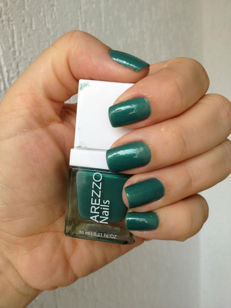 esmalte da semana verde arezzo nails
