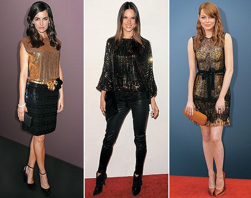 look-reveillon-preto-e-dourado-camilla-belle-alessandra-ambrosio-emma-stone-dourado-preto