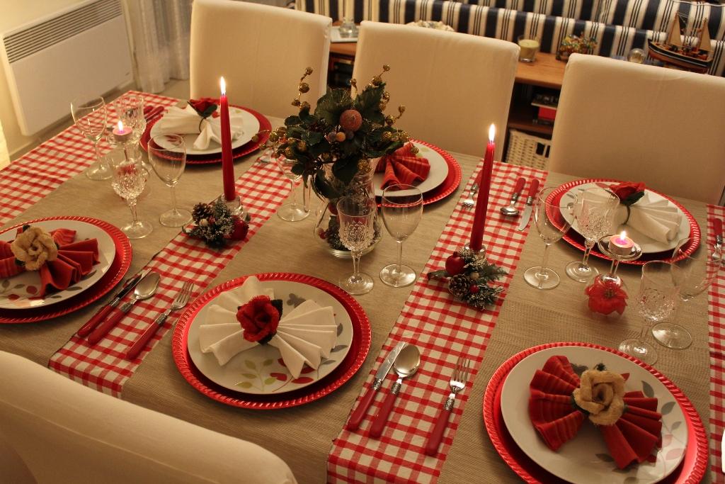 mesa decorada de natal