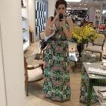 Look do dia vida real: vestido longo floral.