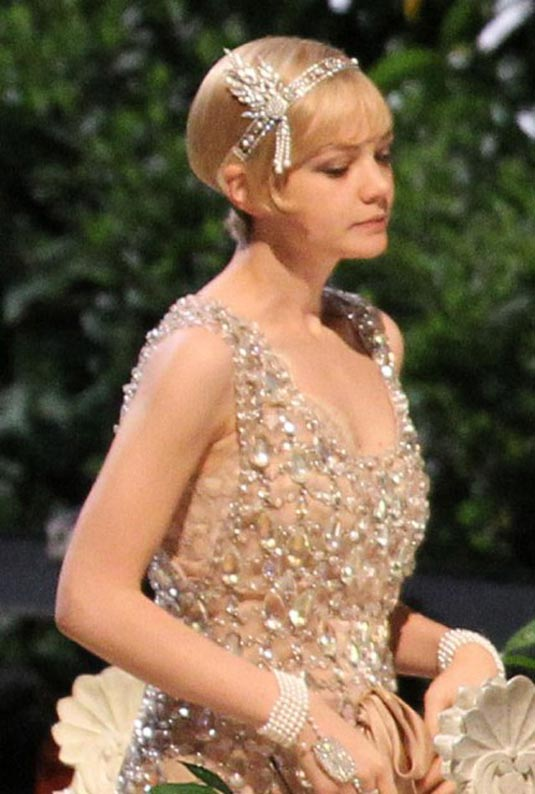 figurino do filme Carey-Mulligan-on-set-of-The-Great-Gatsby