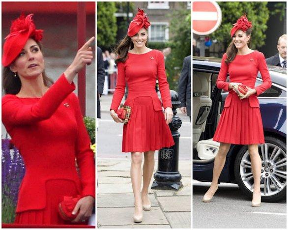 vestido vermelho kate midleton