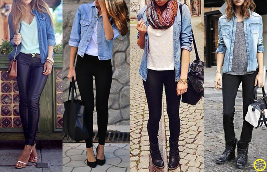 Camisa-Jeans-e-Calca-Preta-como usar