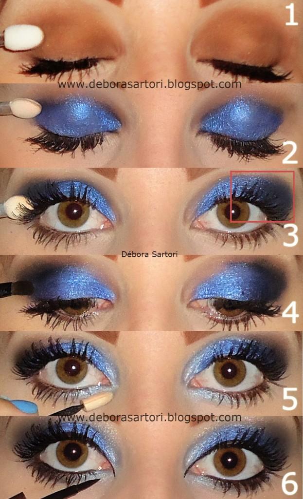 Tutorial maquiagem azul