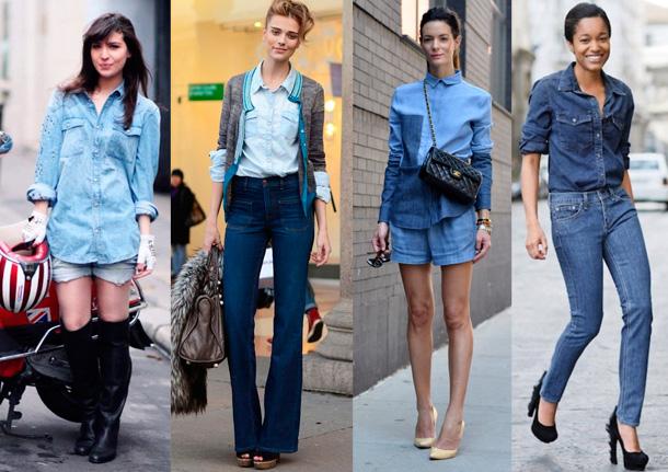 camisa jeans com jeans