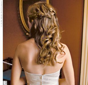 penteado para festa trança cabelos soltos