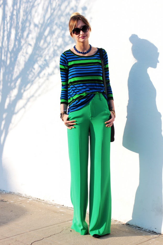 as cores verde e azul