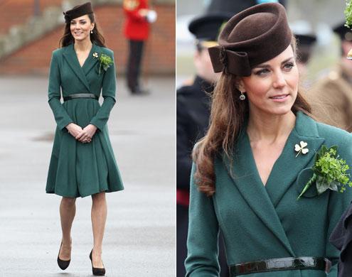 as cores verde e marrom Kate Middleton